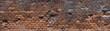 ziegelstein wand - große panorama