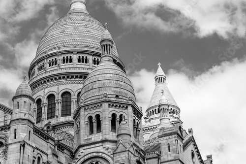 Close up View of the Dome of Sacre Coeur in Paris Canvas Print