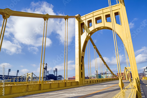 Andy Warhol Bridge in Downtown Pittsburgh, Pennsylvania, USA Wallpaper Mural