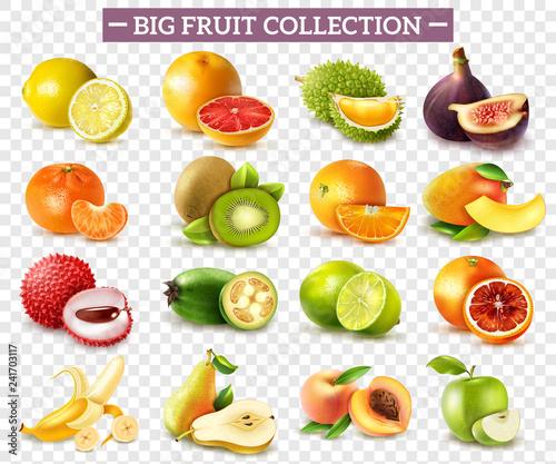 Fototapeta Realistic Fruit Set obraz