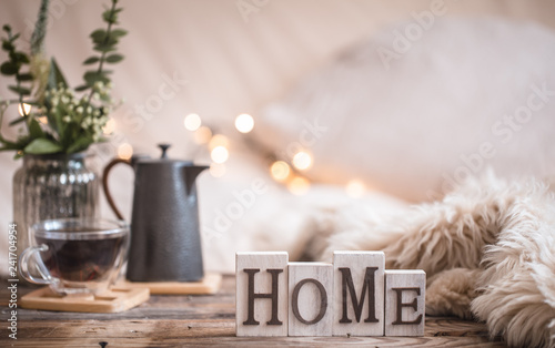 Fotografie, Tablou homely atmosphere in the interior, comfort concept