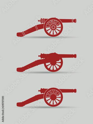 Stampa su Tela Vector retro cannon