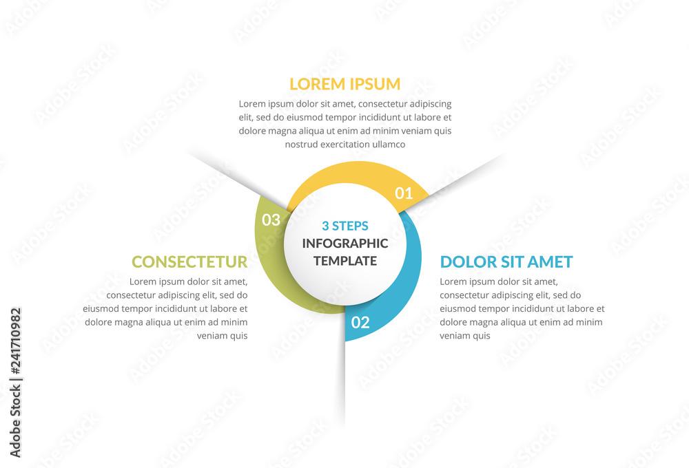 Fototapeta Circle Infographics - Three Elements