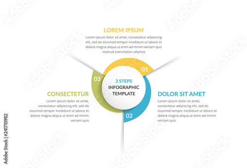 Fotografia, Obraz Circle Infographics - Three Elements