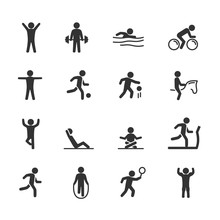 Vector Image Set Exercise Icons.