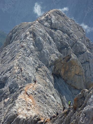 Photo Stands Mountaineering Triglav, Slovénie