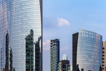 Skyscrapers Of Different Shapes In Milan