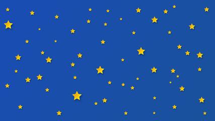 Paper art starry sky