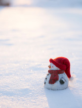 White Snowman Figure With Warm...