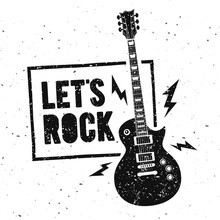 Vector Illustration Lets Rock ...
