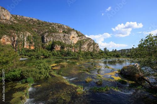 Fotografie, Obraz  Roski slap.Krka river in Krka National Park. Croatia. Dalmatia