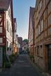 In den Straßen der Altstadt von Büdingen, Wetterau, Hessen, Deutschland