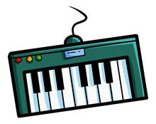 Cute And Funny Funky Small Mini Keyboard - Vector