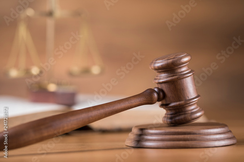 Photo Gavel,Law theme, mallet of judge concept