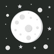 moon in space, astronomy space, moon sign, cartoon moon image, s
