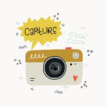 Hand Drawn Cartoon Photo Camera