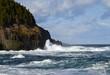 seascape along the Newfoundland coastline
