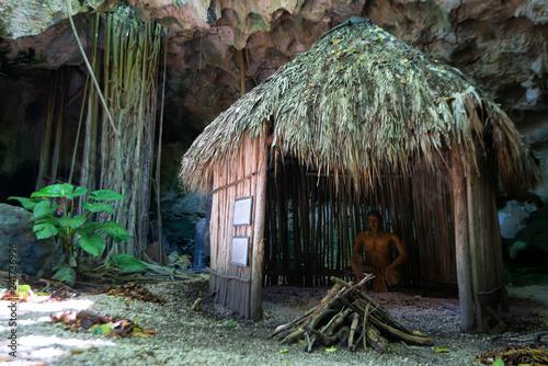 Fotografia Hut used by Taino indians in Dominican Republic