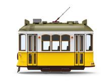 Old Tram Cartoon Side