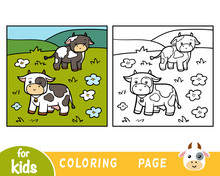 Coloring Book, Two Cows