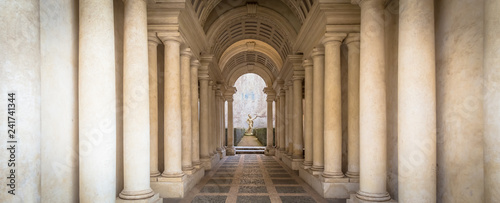 Carta da parati Luxury palace with marble columns in Rome