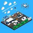 Smart City Isometric Concept