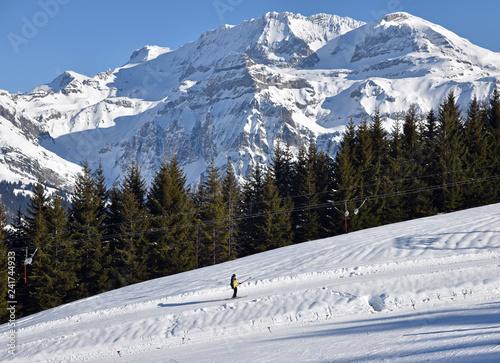 Téléski dans l'Oberland bernois, Suisse