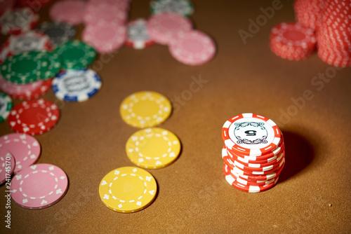 фотография  Chips for casino gambling