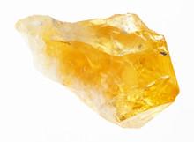 Crystal Of Citrine (yellow Quartz) On White