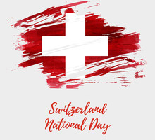 Switzerland National Day Background.