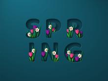 Spring Typographic Design For ...
