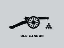 Vector Retro Cannon