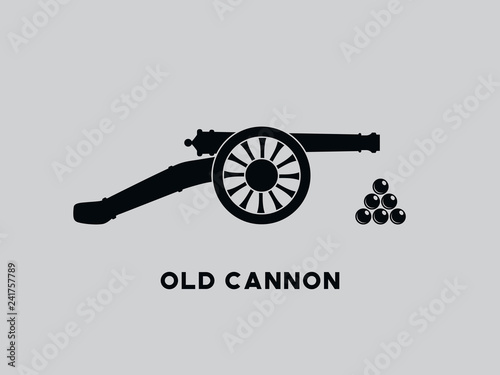 Vector retro cannon Wallpaper Mural