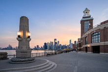 The Landmark Navy Pier And The Downtown Skyline In Chicago IL.