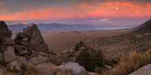 Sunset From Whitney Portal Rd In Inyo National Forest, Eastern Sierra, CA.