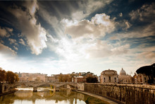 View Looking Towards Vatican City, Rome, Italy