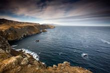 CHANNEL ISLANDS NATIONAL PARK, CA: Cavern Point Trail On Santa Cruz Island.