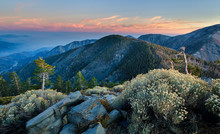 Pine Mountain At Sunset In Ang...