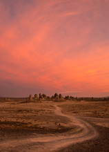 A Pink Sunset At The Trona Pin...