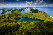 Aerial View Of Jellyfish Lake In Palau