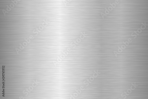 Fotografie, Obraz Brushed metal texture. Steel background. Vector illustration.