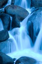 Scenic Image Of Cascade Creek In Yosemite National Park.