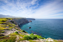 Santa Cruz Island, Channel Islands National Park, California: The View From The Cavern Point Trail.
