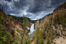 Yellowstone National Park, Wyoming: Canyon Falls.