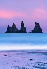 Reynisdrangar Sea Stacks Off T...