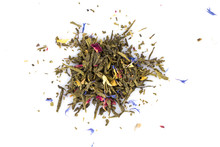 Flavoured Green Tea Isolated