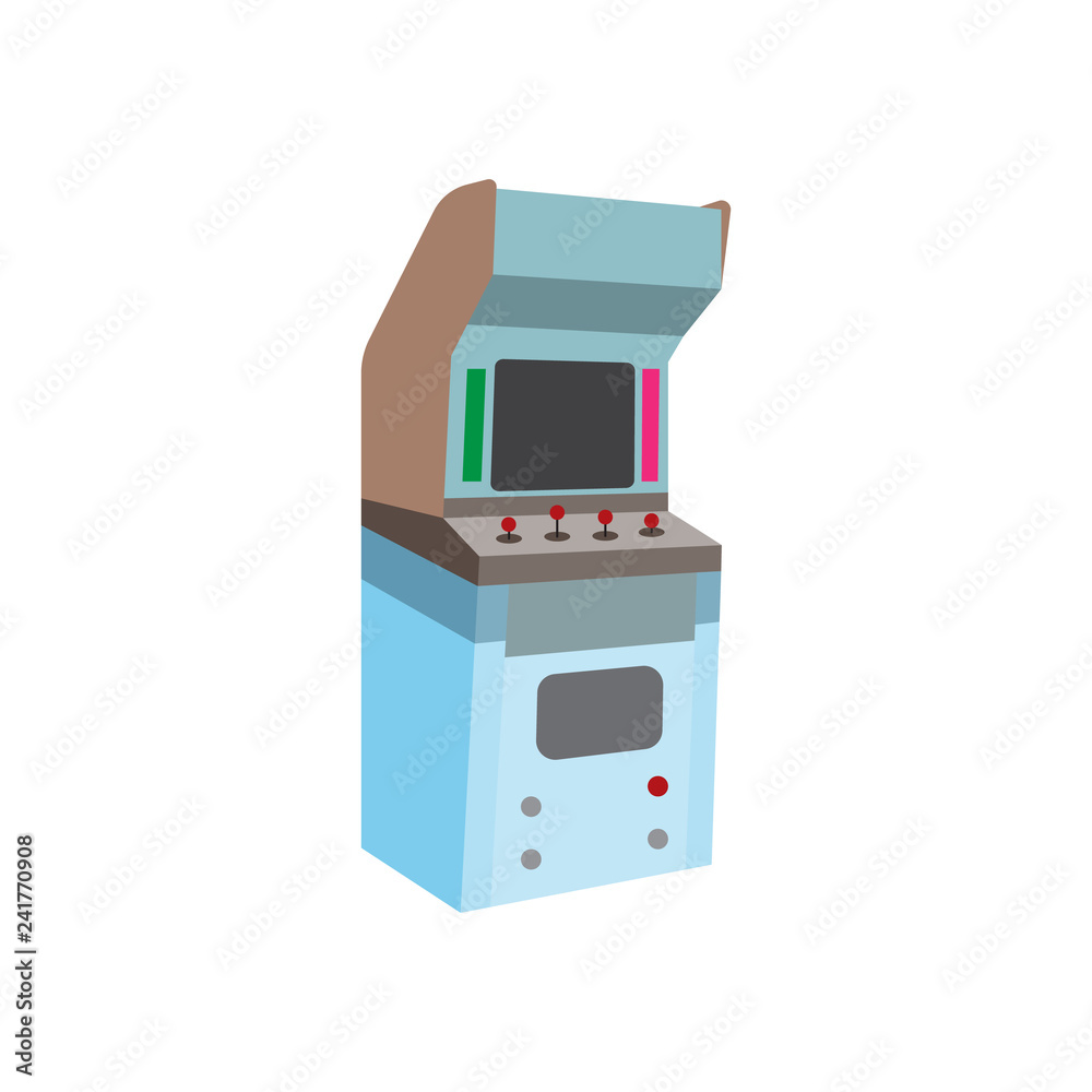 Arcade Cabinet Flat Icon Vector Design Illustration Foto Poster