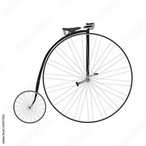 Old bicycle black icon vector design illustration © Etka