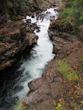 River Running Through Rocks Rogue River Oregon