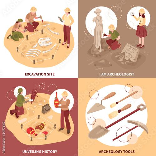Fotografia  Archeology Isometric Design Concept